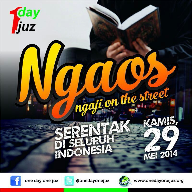 Syaamil Quran Dukung Acara Ngaji On The Street ODOJ