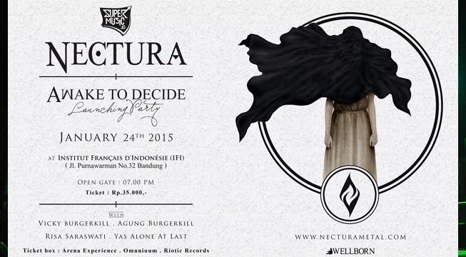 Rayakan Perilisan Album, Nectura Gelar Konser 'Awake To Decide' di IFI Bandung