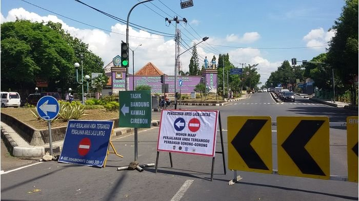 Jalan Nasional Menuju Ciamis Kota Ditutup Hingga Awal Puasa