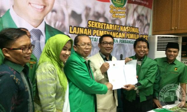PPP Beri Tiket Ridwan Kamil Maju ke Pilgub Jabar 2018