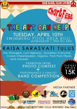 "Hima Humas Fikom Unpad Gelar ""The Art Can Help"" , Bandung Chart Festival 2012"