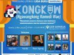 Stand Up Comedy Bakal Ramaikan Liga Buku Bandung