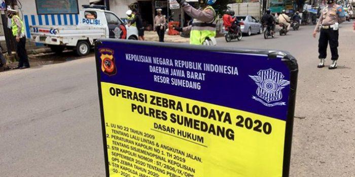 Operasi Zebra Lodaya 2020, Polsek Jatinangor Tindak 7 Pelanggar
