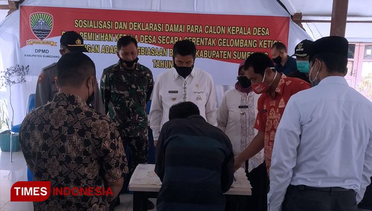 Calon Kades di Sumedang Siap Wujudkan Pilkades Aman, Damai dan Kondusif